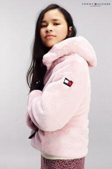 Tommy Hilfiger Pink Faux Fur Jacket