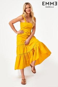 Emme by Marella Yellow Cotton Atropos Dress