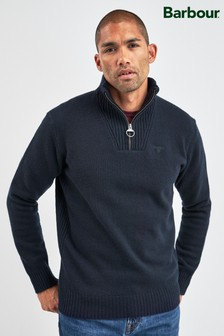 Barbour® Navy Essential Half Zip Jumper
