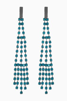 Diamanté Drop Earrings