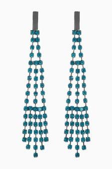 Diamanté Drop Earrings