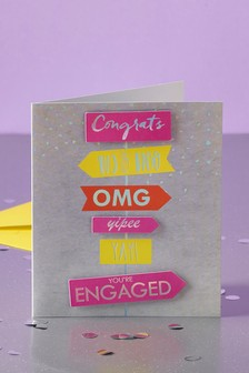 Neon  Engagement Card