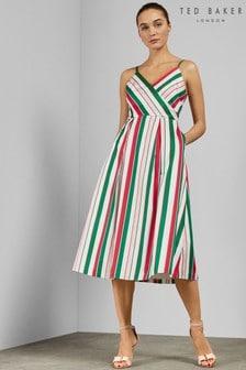 Ted Baker White Stripe Dress