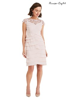 Phase Eight Pink Faith Layered Dress