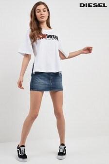 Diesel® Mid Wash Denim Skirt