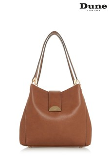 Dune Accessories Tan Large Semi Circle Slouch Day Bag