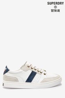 Superdry White Lace-Up Trainer