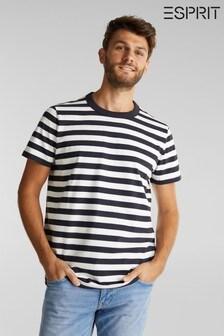 Esprit Blue Short Sleeved Striped  T-Shirt