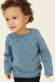 Transport Embroidered Jumper (3mths-7yrs)