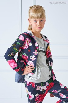 Angel & Rocket Floral Hoody