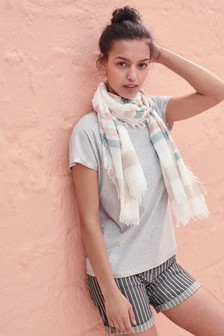 Foil Scarf Layer Top