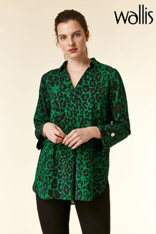 Wallis Green Animal Shirt
