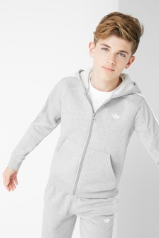 adidas Originals Grey Outline Zip Through Hoody