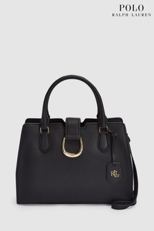 18010cedad Polo Ralph Lauren® Black Leather Satchel Bag