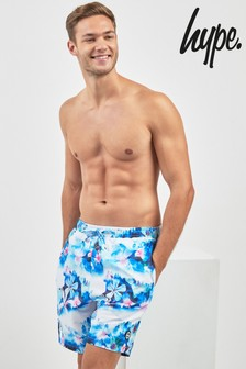 Hype. Blue Floral Swim Short