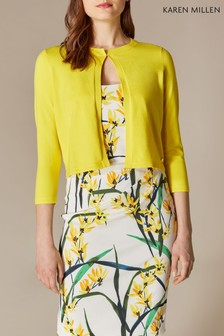 Karen Millen Yellow Essential Cardigan