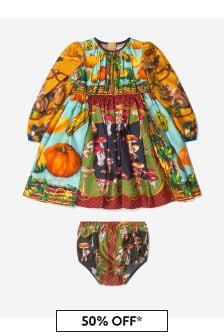 Dolce & Gabbana Kids Baby Girls Multicolour Country Print Dress