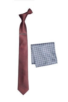 Tie With Pattern Pocket Square Set