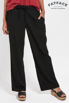FatFace Black Mia Wide Leg Trouser