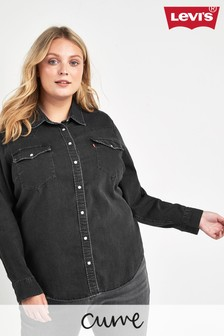 Levi's® Plus Danger Black Dori Western Denim Shirt