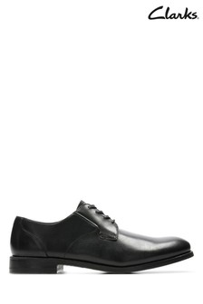 Clarks Black Edward Plain Shoe
