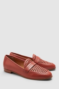 Signature Forever Comfort Leather Woven Loafers