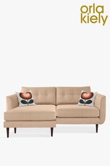 Orla Kiely Linden Large Chaise Sofa With Walnut Feet