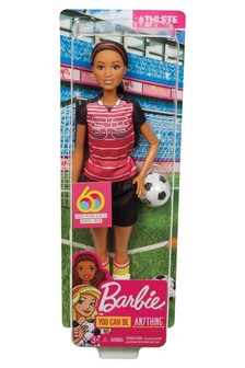 Barbie Athlete Doll, Brunette Soccer Player Doll With Ball