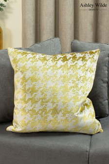 Nevado Velvet Jacquard Cushion by Ashley Wilde