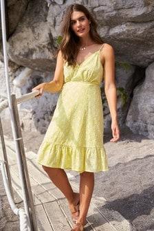 Krátke zavinovacie šaty