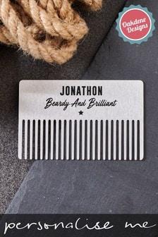 Personalised Men's Beard Comb by Oakdene Designs