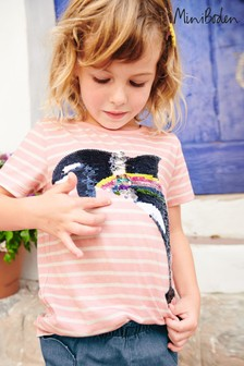 Boden Pink Sequin Colour Change T-Shirt