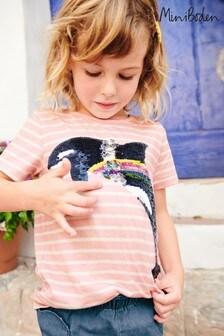 Boden Pink Sequin Colour Change T-Shirt