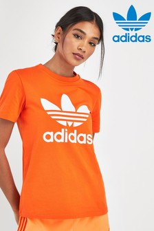 adidas Originals Orange Trefoil Tee