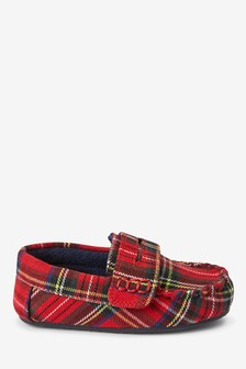 Warm Lined Moccasin Slippers (Younger)