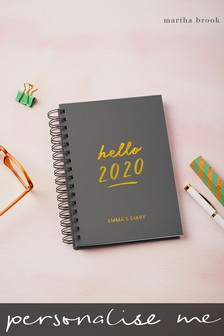 Personalised Hello 2020 Diary by Martha Brook