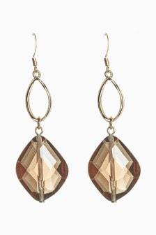 Organic Stone Effect Drop Earrings