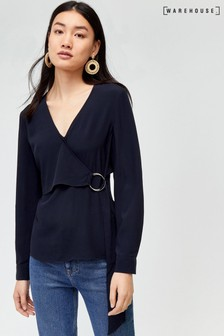 Warehouse Blue O-Ring Wrap Top