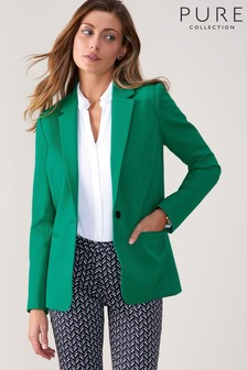 Pure Collection Green Textured Blazer