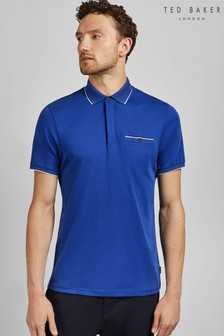 Ted Baker Blue Short Sleeve Polo Shirt