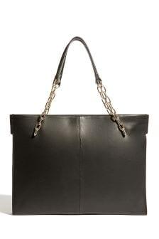 Karen Millen Black Chain Handle Square Shaped Bag