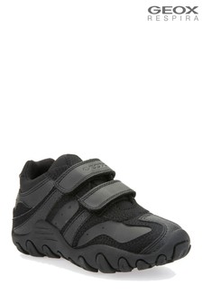 Geox Crush Black Trainers
