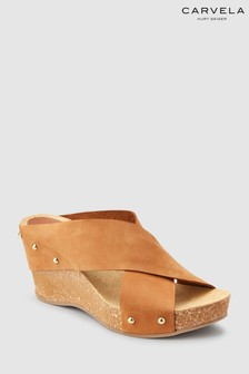 Carvela Comfort Tan Leather Sooty Wedge