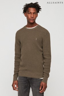 AllSaints Khaki Wells Textured Jumper