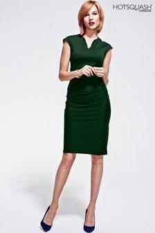 HotSquash Green Kensington V Cut Dress