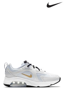Nike White Air Max 200 Trainers
