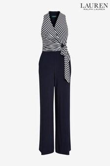 Lauren Ralph Lauren Navy/Cream Stripe Ritanna Jumpsuit