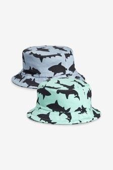 鯊魚圖案漁夫帽兩件裝 (小)