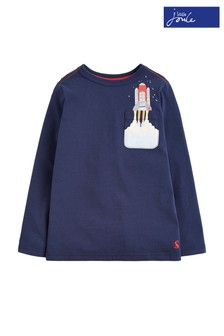 Joules Blue Winston Boys Pocket Rocket T-Shirt