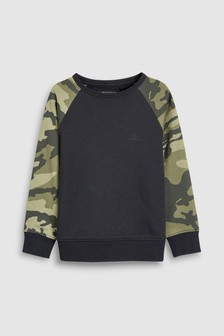 Camo Arm Sweat Top (3-16yrs)